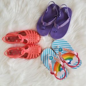 Lot of 3 - 3 pair of sandals / summer shoes